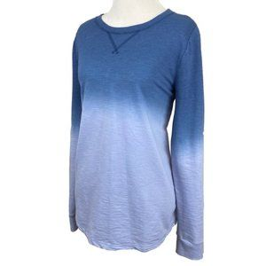 Sonoma Goods for life blue ombre long sleeve top